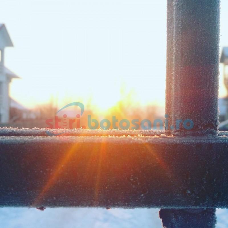 Cea mai scăzută temperatură din această iarnă, din ţară, înregistrată la Botoşani!