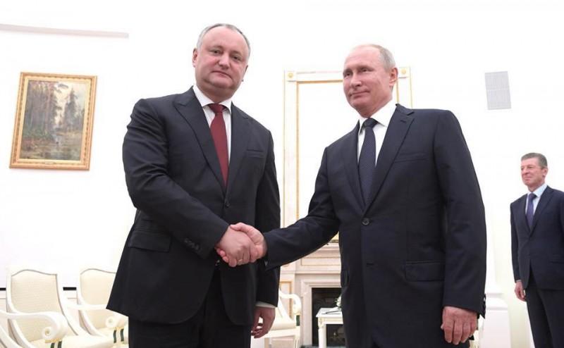Igor Dodon a avut o nouă întrevedere cu Vladimir Putin, la Moscova