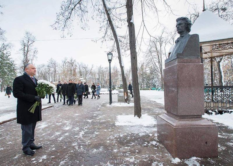 Igor Dodon, despre Mihai Eminescu: S-a născut moldovean. A plecat din viață în România