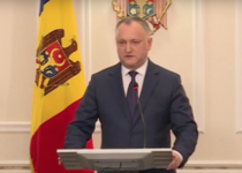 "Igor Dodon: Romania nu va putea inghiti niciodata R. Moldova, va face ""indigestie"""