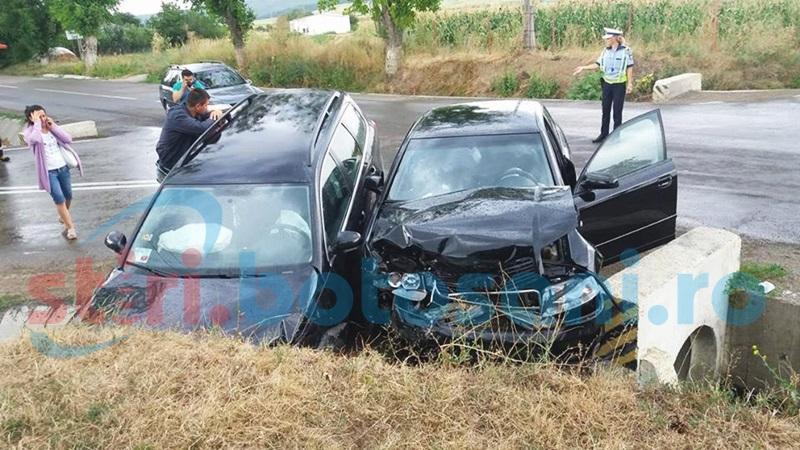 Impact violent în intersecţia morţii de la Orăşeni Deal! Şapte persoane, printre care şi un ambasador, au fost rănite! FOTO