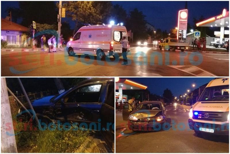 IMPACT VIOLENT într-o intersecţie din Botoşani! Copil rănit şi maşini distruse din vina unui şofer neatent! FOTO