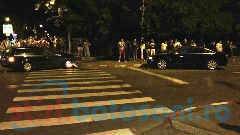 Impact violent într-o intersecție din Botoșani după o neacordare de prioritate! FOTO
