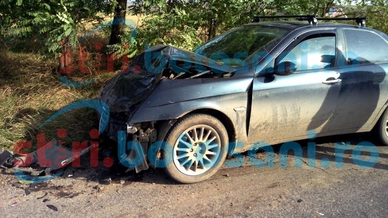 Impact violent intre doua masini, in apropiere de Padurea Rediu! Frana de peste 50 de metri! FOTO, VIDEO