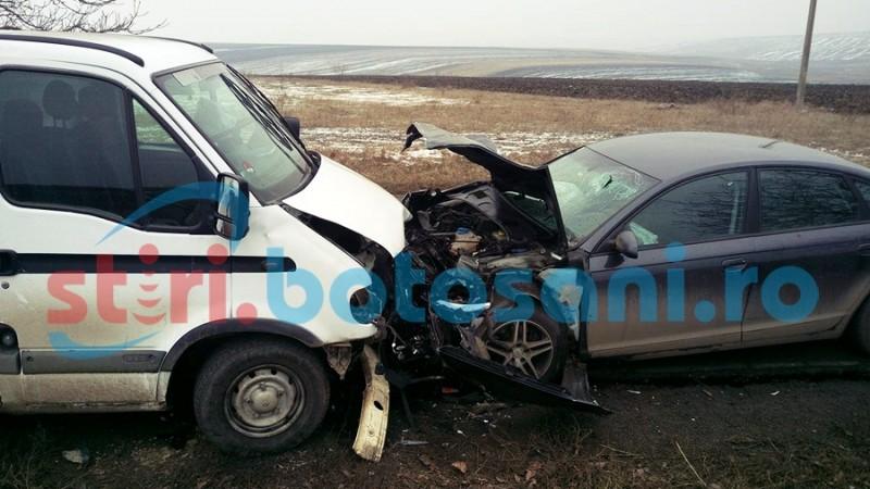 IMPACT VIOLENT pe drumul național Botoșani - Săveni! Șase persoane au ajuns la spital, după o depășire inconștientă! FOTO, VIDEO