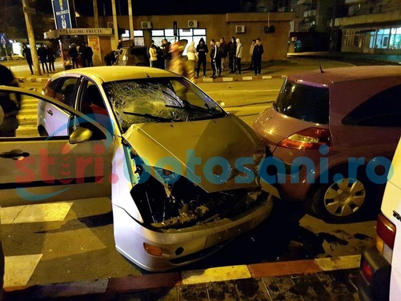 IMPACT VIOLENT pe strada Primăverii! Două persoane au ajuns la spital! FOTO