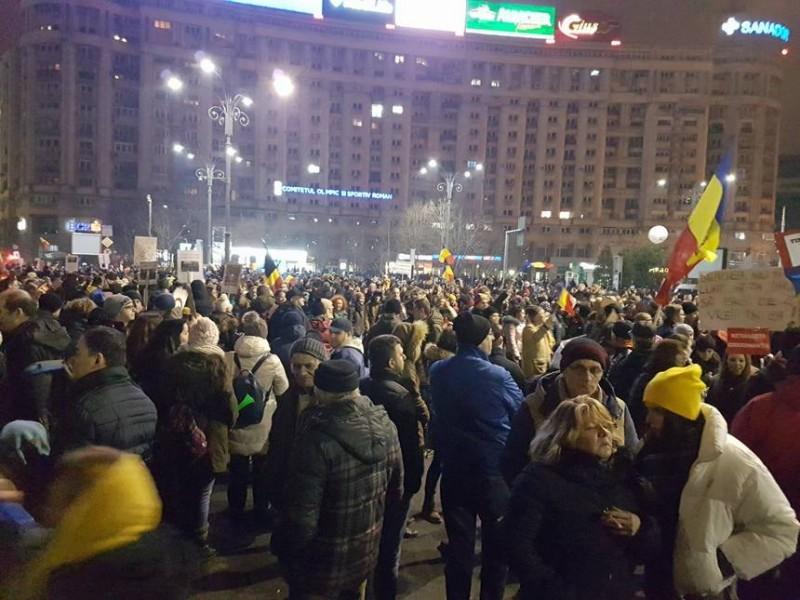 """În Piaţa Victoriei din Capitală este anunţat duminică """"cel mai mare protest faţă de OUG"""""""