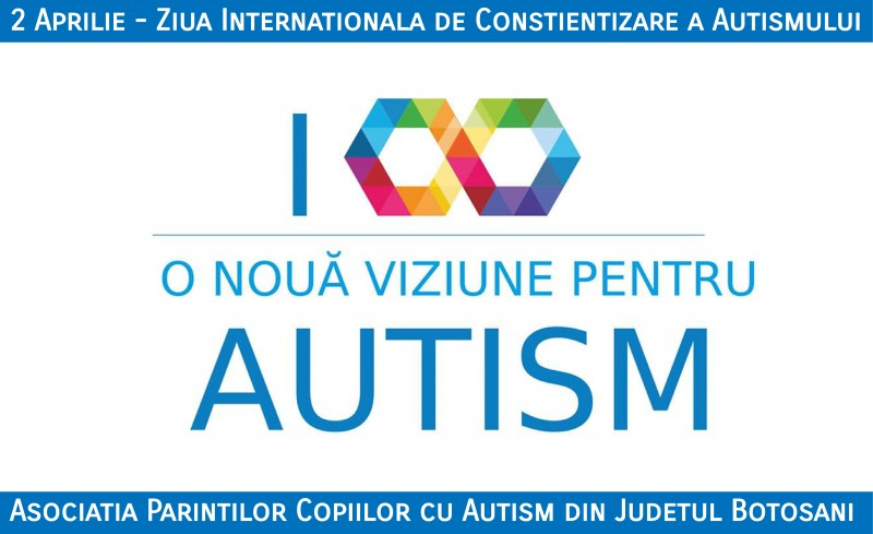 """În ziua de 2 aprilie: """"Trăiește o clipă în mintea unui copil cu autism""""!"""