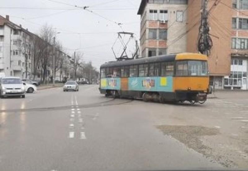 Încă o deraiere de tramvai în municipiul Botoșani