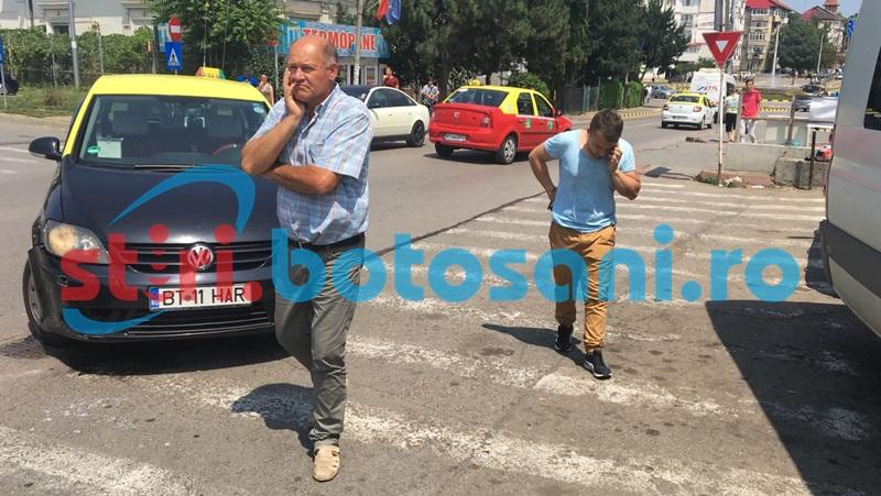 Încă un accident în zona Bazarului! Motociclist transportat la spital! FOTO