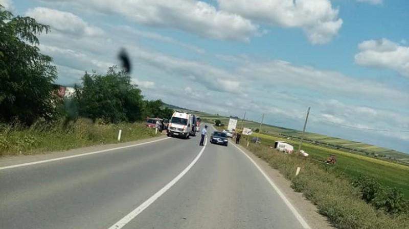 Încă un accident s-a produs în această după amiază, la Huțani!