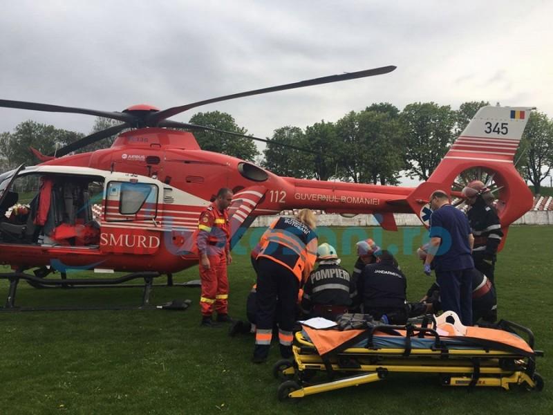 Încă un pacient transferat din judeţ la Iaşi cu elicopterul SMURD! FOTO