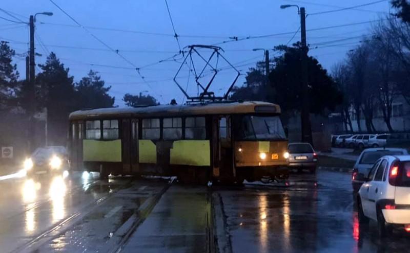 Încă un tramvai a deraiat în această dimineață în municipiul Botoșani