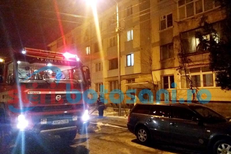 Incendiu intr-un apartament de pe strada Stefan Luchian! FOTO