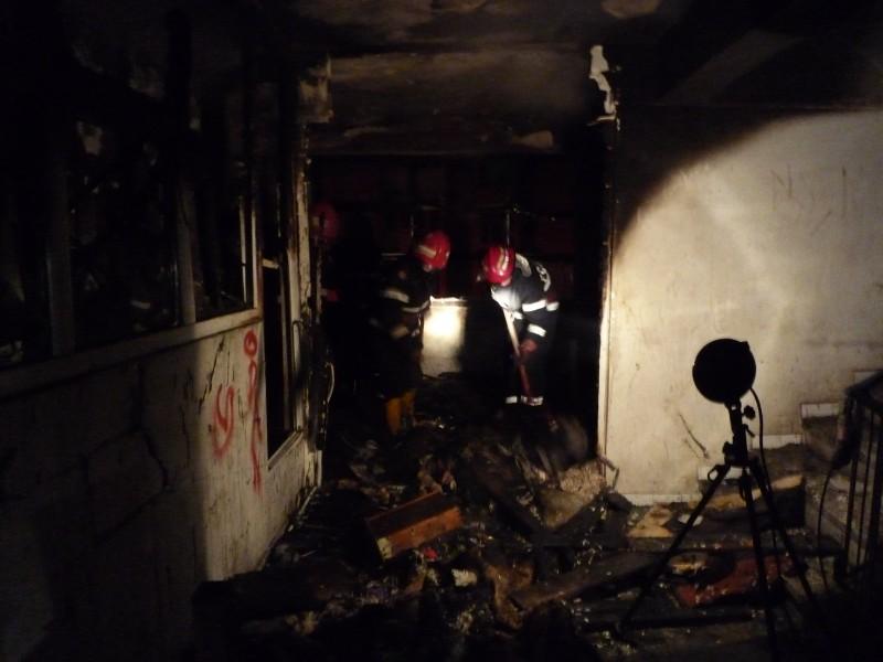 Incendiu într-un cămin de nefamilişti din municipiul Botoşani!