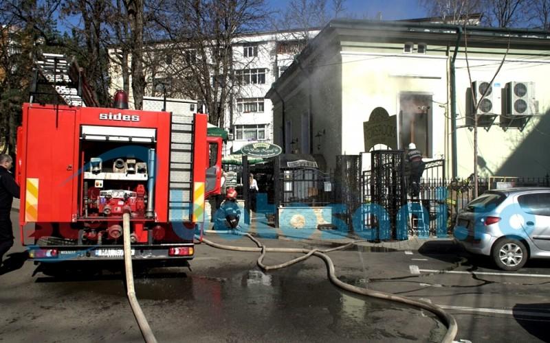 Incendiu intr-un restaurant din centrul orasului Botosani! FOTO