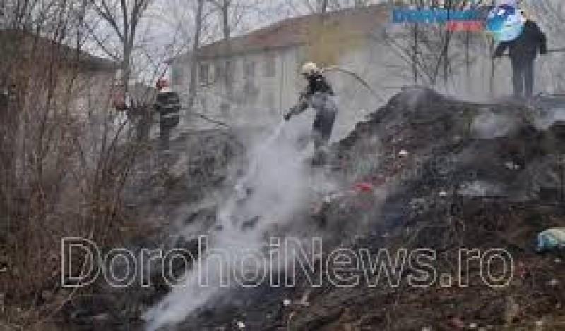 Incendiu lângă Cimitirul Eternitatea din Dorohoi!