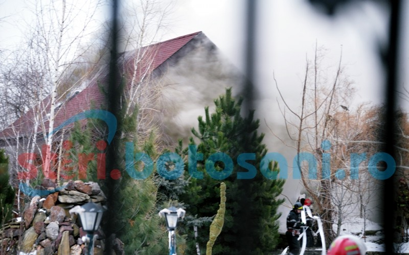 Incendiu violent într-o curte din municipiul Botoșani! FOTO,VIDEO