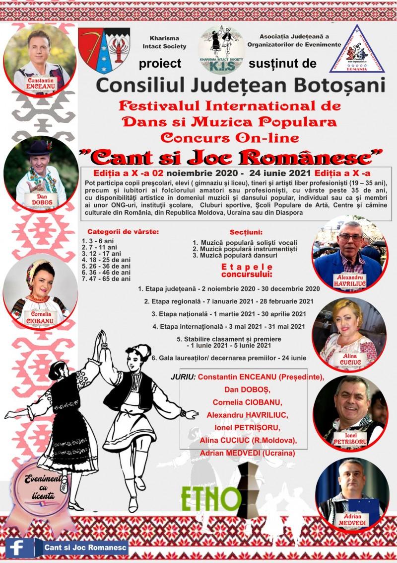 """Încep înscrierile pentru cea de-a X-a ediție a Festivalului Internațional de Dans și Muzică Populară """"Cânt și joc românesc"""""""