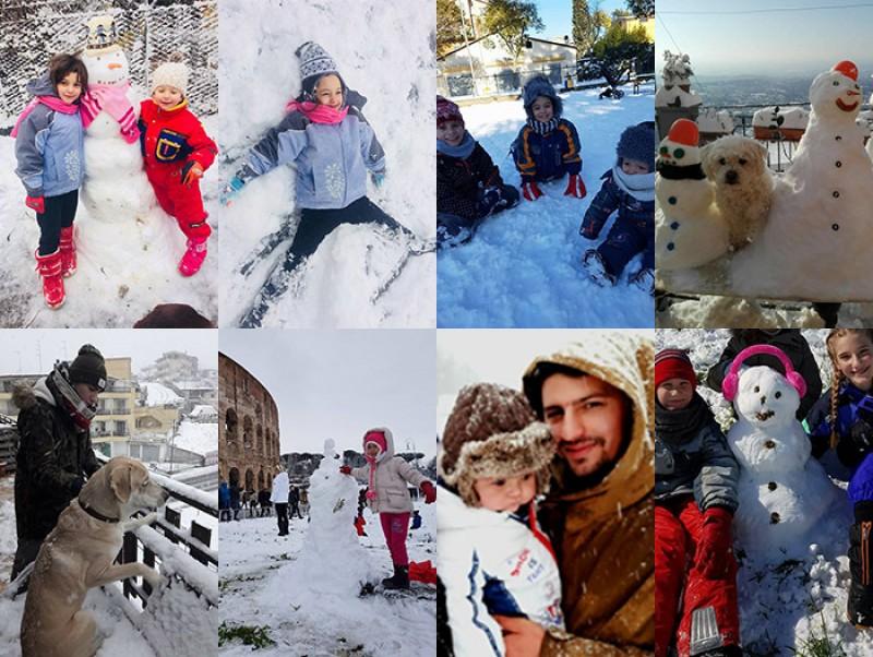 Incredibil ce a reușit să facă o româncă în Italia, în ziua în care a nins la Roma. Atenție, imagini cu impact emoțional!