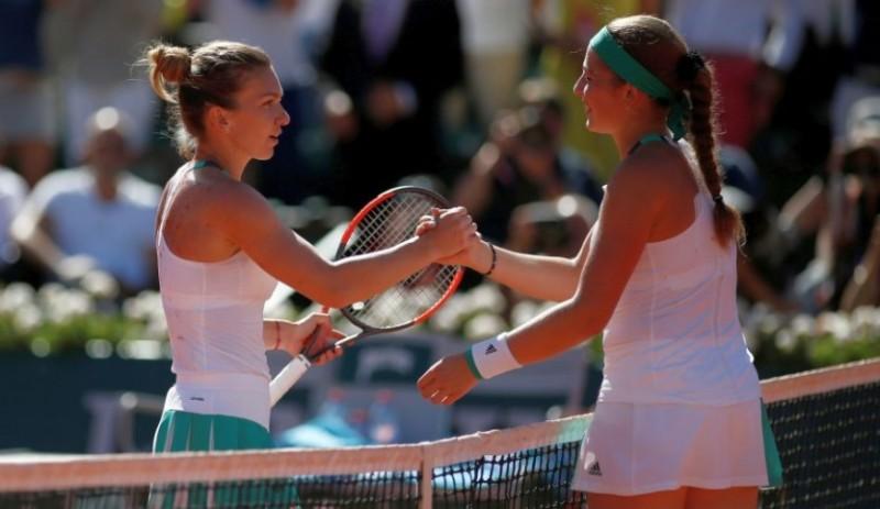 Incredibil! Simona Halep pierde titlul de la Roland Garros, in fata bombardierei Ostapenko!
