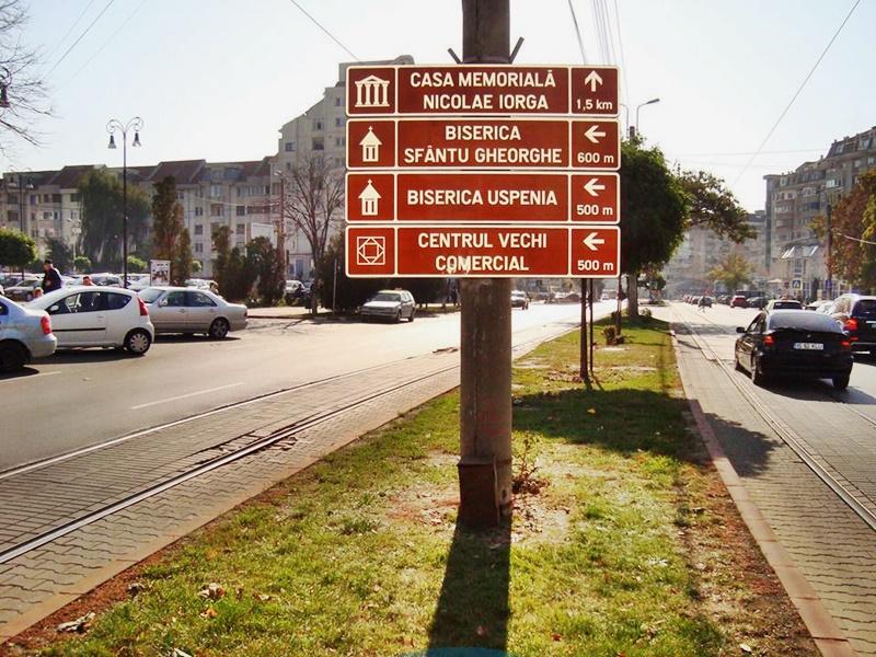 Indicatoare turistice montate pe străzile din municipiul Botoșani - FOTO