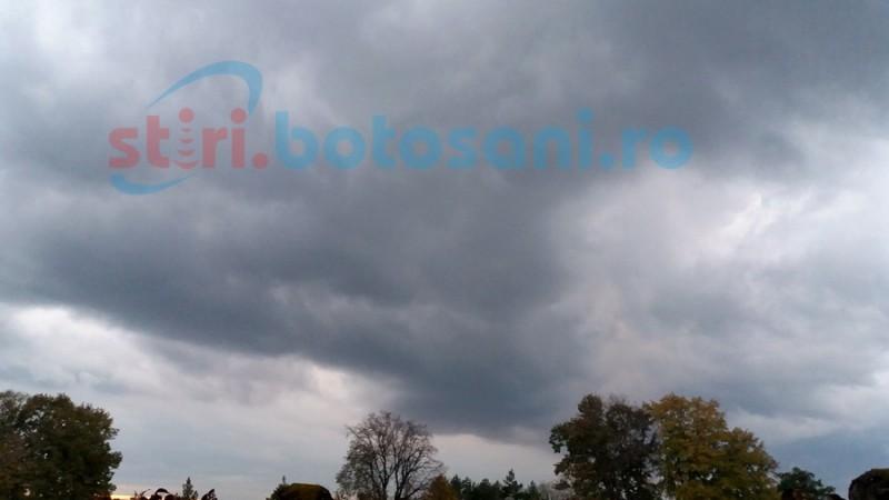 Informare meteorologică de ploi şi vânt puternic! Prognoza de weekend pentru Botoşani