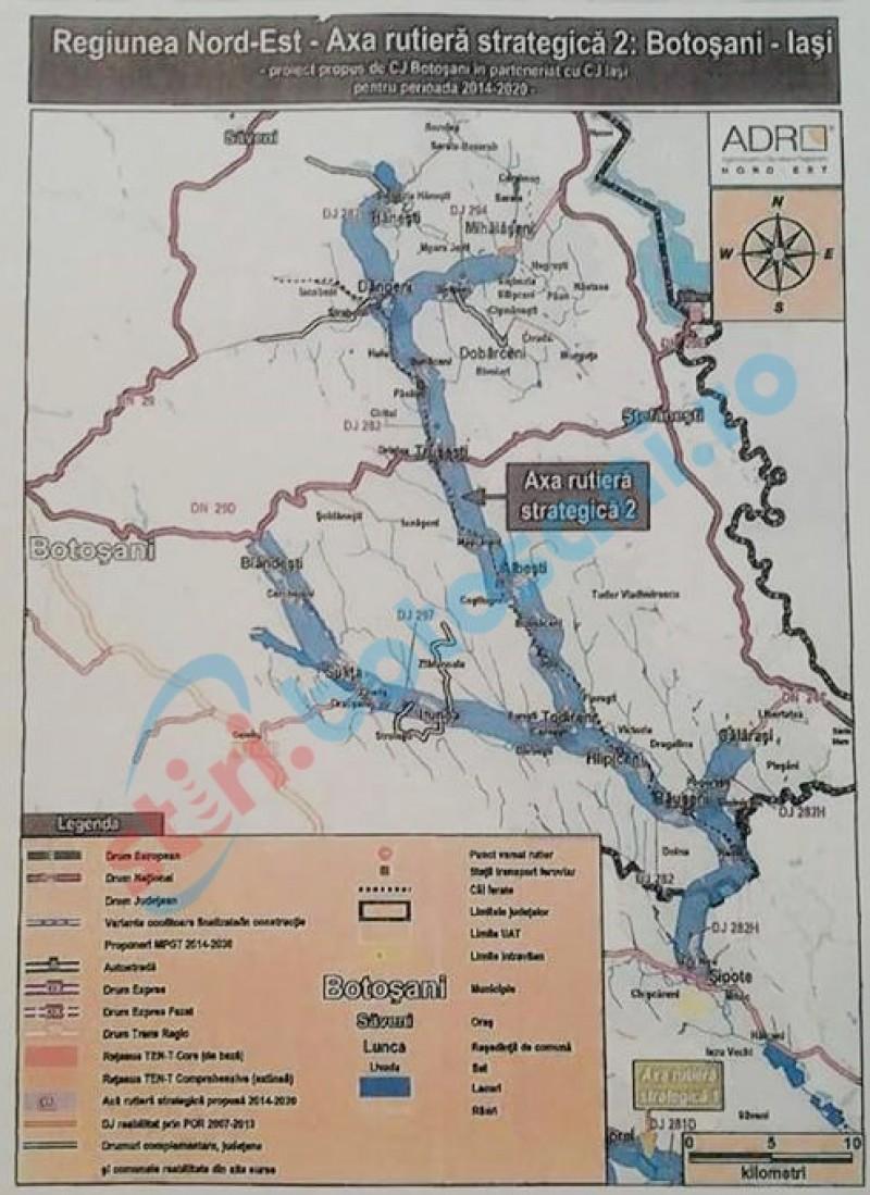 Inspecţie în teren a specialiştilor de la ADR NE privind drumul strategic