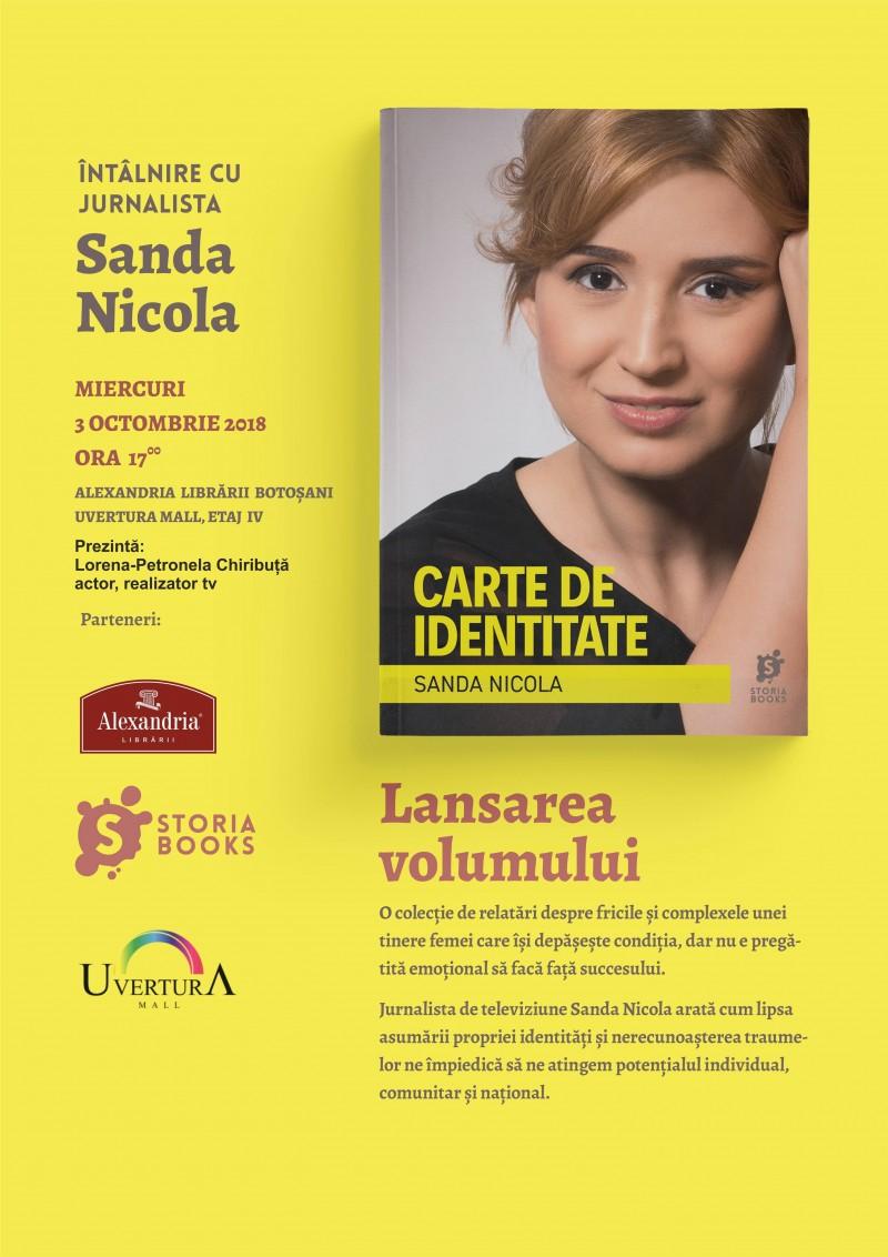 """Întâlnire de suflet cu jurnalista de televiziune Sanda Nicola, la care e musai să ai la tine o """"Carte de identitate"""""""