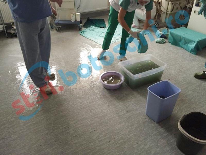 Inundație într-o sală de operații de la Spitalul Mavromati!