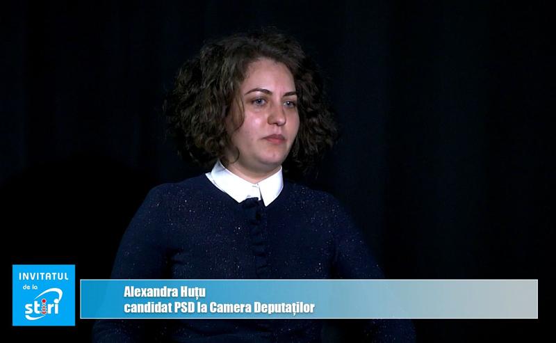 Invitatul de la Știri – Alexandra Huțu, candidat PSD pentru Camera Deputaților