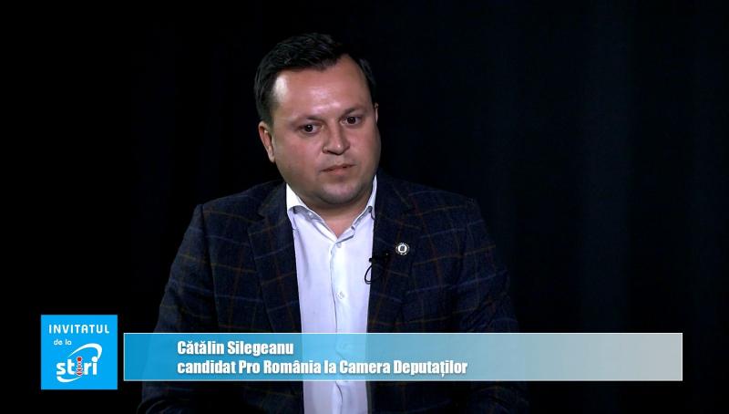 Invitatul de la Știri - Cătălin Silegeanu, candidat la Camera Deputaților din partea PRO România