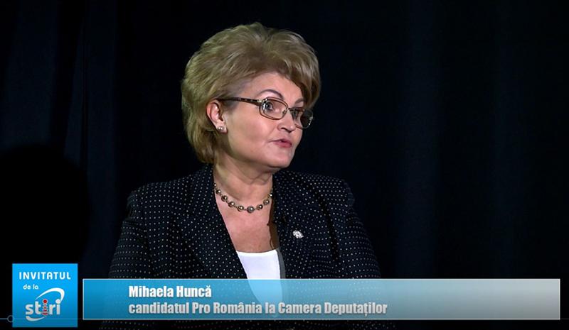 Invitatul de la Știri – Deputatul Mihaela Huncă, candidatul Pro România la Parlamentul României