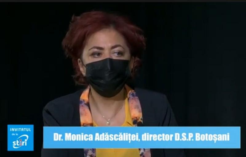 Invitatul de la Știri - Doctor Monica Adăscăliței, director D.S.P. Botoșani