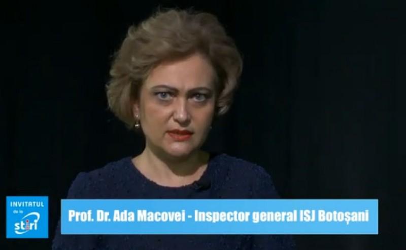 Invitatul de la Știri - Prof. Dr. Ada Macovei, Inspector general ISJ Botoșani