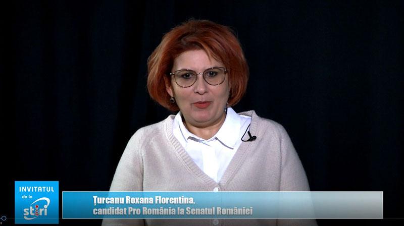 Invitatul de la Știri - Roxana Florentina Țurcanu, candidat PRO România la Senatul României