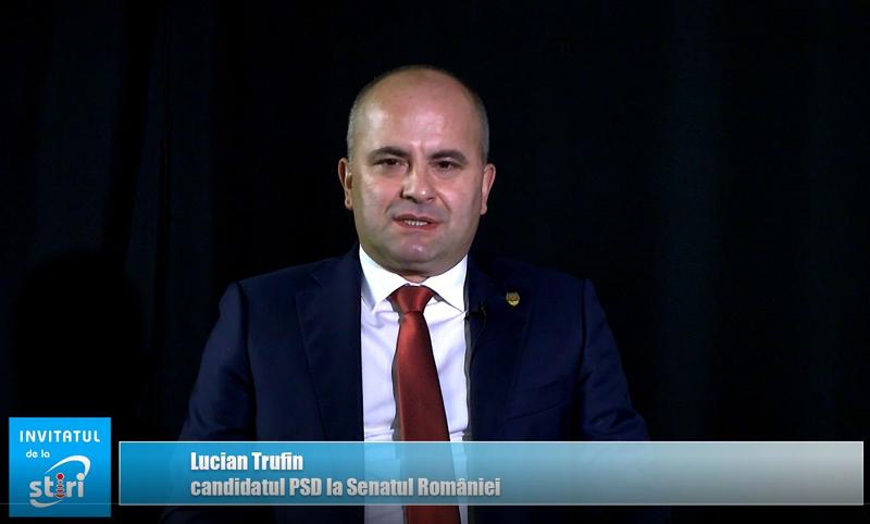Invitatul de la Știri – Senatorul Lucian Trufin, candidatul PSD la Senatul României