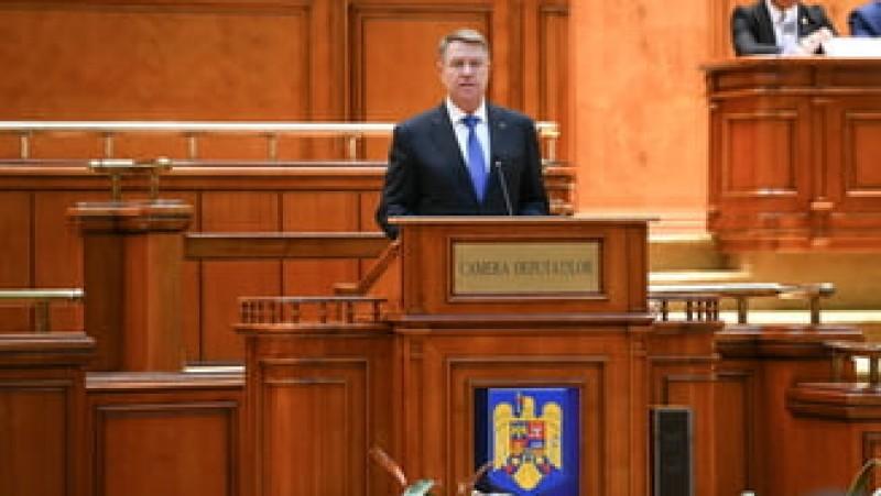 Iohannis, în Parlament: Românii vor lideri cinstiți