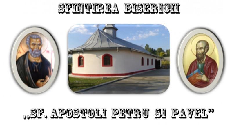 """IPS Teofan va sfinți, sâmbătă, Biserica cu hramul """"Sf. Apostoli Petru și Pavel"""" din satul Pomîrla"""