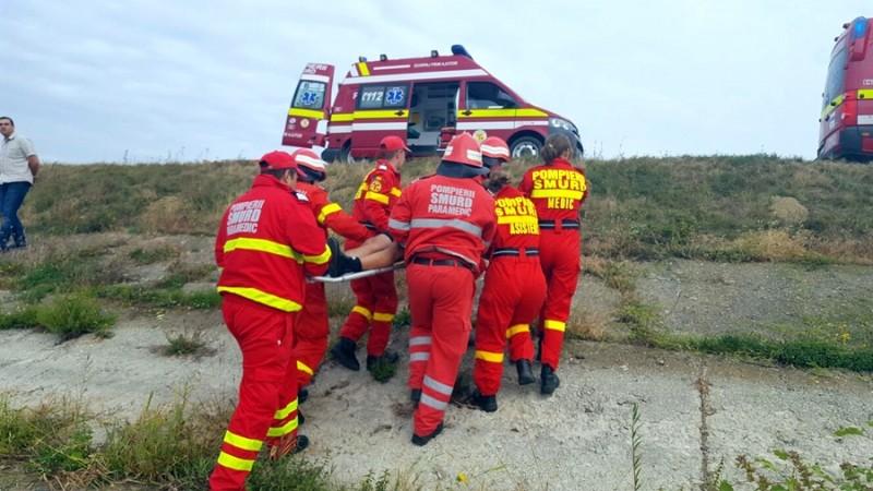 Accident aviatic, simulat în pădurea Gorovei