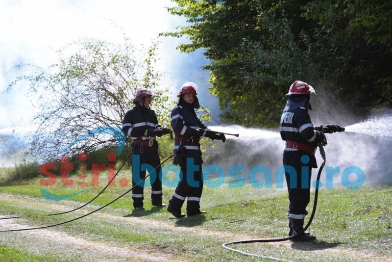Minivacanță de Rusalii cu zeci de intervenții ale pompierilor botoșăneni