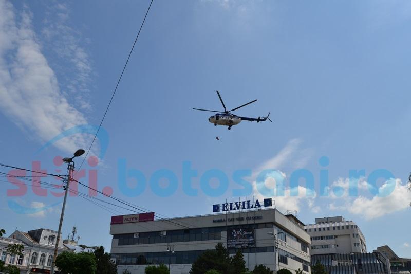 Simulare de cutremur în Centrul Vechi din municipiul Botoșani: clădiri prăbușite, explozii, incendii
