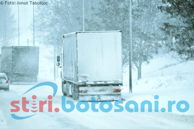 Comitetul pentru Situații de Urgență Botoșani: Cetăţenii sfătuiţi să evite călătoriile pe timp de viscol!