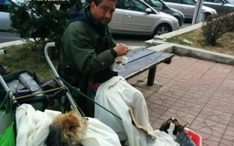 """Italianul care a ajuns sa cerseasca in Romania: """"Cel mai rau a fost in Botosani"""""""