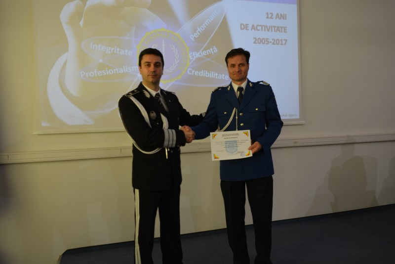 Jandarm botoșănean premiat pentru integritate