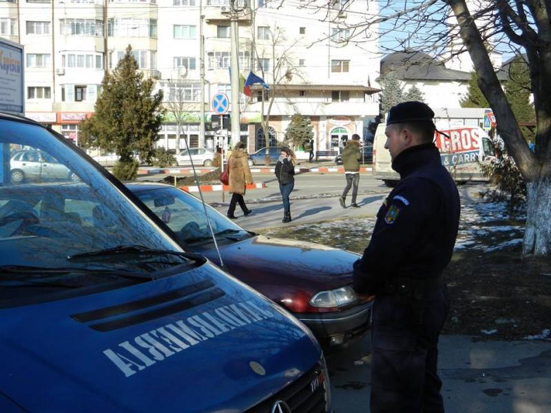 Efective sporite de jandarmi, pe străzile din Botoșani