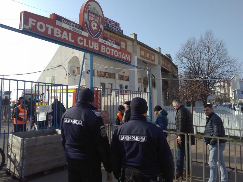 Jandarmii vor asigura ordinea publică la meciul de rugby de pe Stadionul Municipal Botoșani