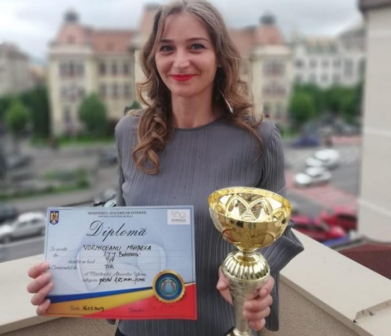 Jandarmeriță din Botoșani, campioană la tir! FOTO