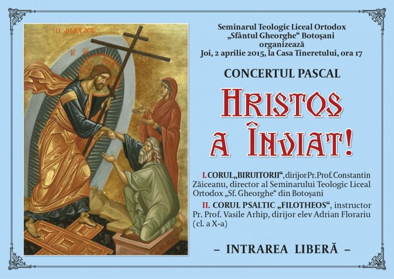 """JOI: Concertul pascal """"Hristos a Înviat"""""""