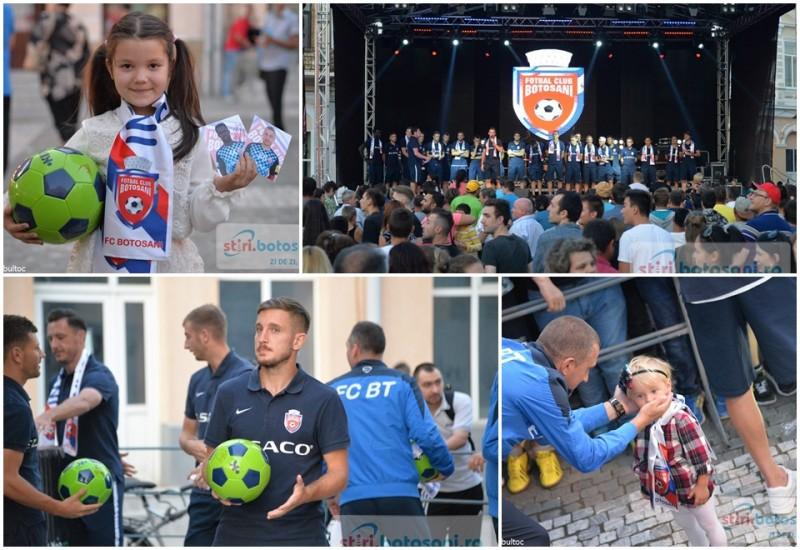 Jucatorii de la FC Botosani, prezenti pe scena de la September Fest! Suporterii s-au batut pentru mingi, esarfe si autografe! GALERIE FOTO